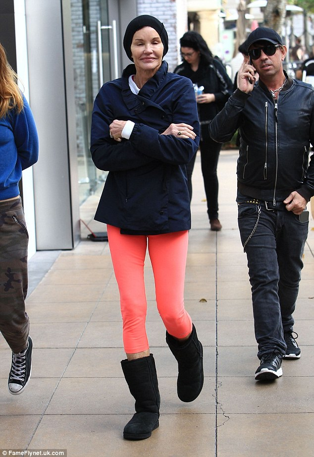 Good times: The Hollywood regular looked to be in bliss as she wrapped up some holiday shopping chores at The Grove