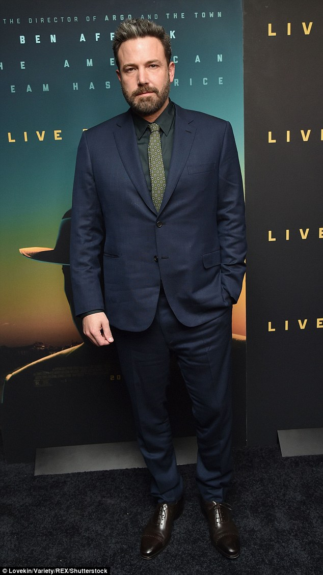 Suited and booted!Ben Affleck, meanwhile, was one cool customer in his midnight blue suit, green shirt, and polka dot tie