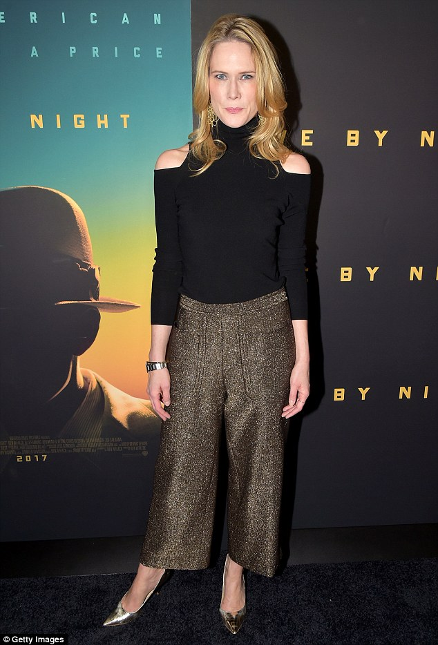Golden girl: Stephanie March added a golden touch in her sparkling trousers