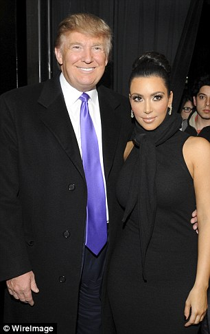 Mega-bucks: Kim and Trump posed in NYC in 2010