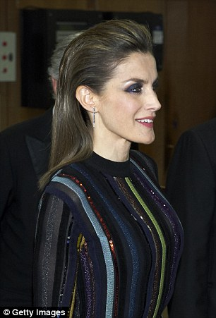 Queen Letizia of Spain, pictured, stole the show at the International Journalist Awards of ABC ceremony in Madrid