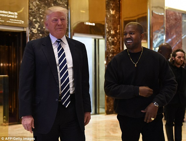 During the presidential campaign Kanye was seen smiling for a selfie with Hillary Clinton. Months later during a concert he revealed that he would have voted for Trump