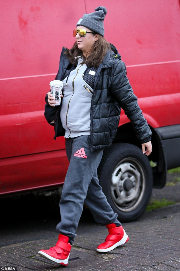Too hip: Honey G looked cool but comfortable as she headed into the studio to film her first music video in London on Tuesday