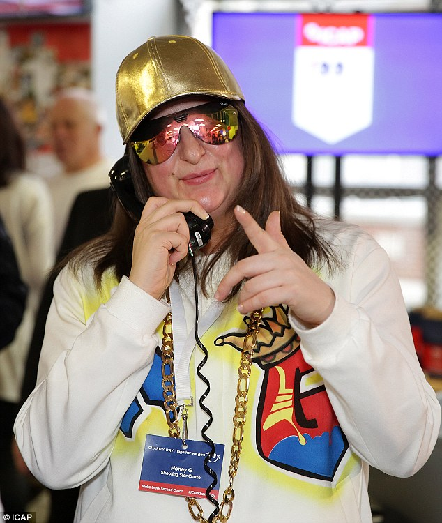 Rising rapper: Despite being voted off in week seven, Honey G revealed her first single would be released on December 23, going head to head with winner Matt Terry's own track