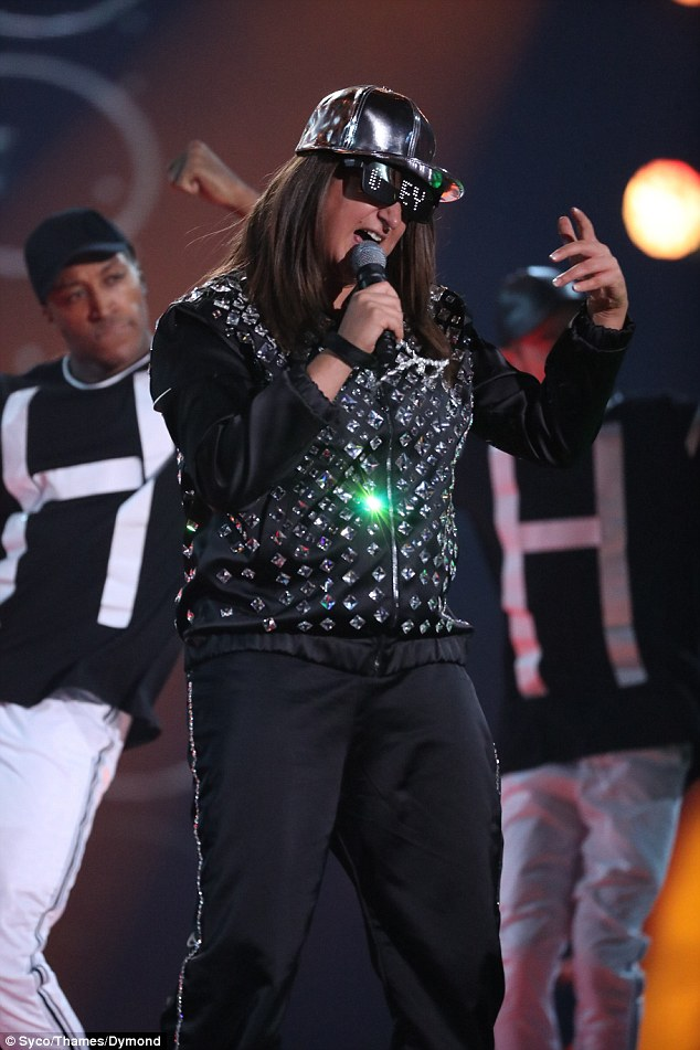 Rapping up: And Honey G may have been booted off The X Factor weeks before but she was back with a bang on Saturday night when she took the stage at the final to debut her first single