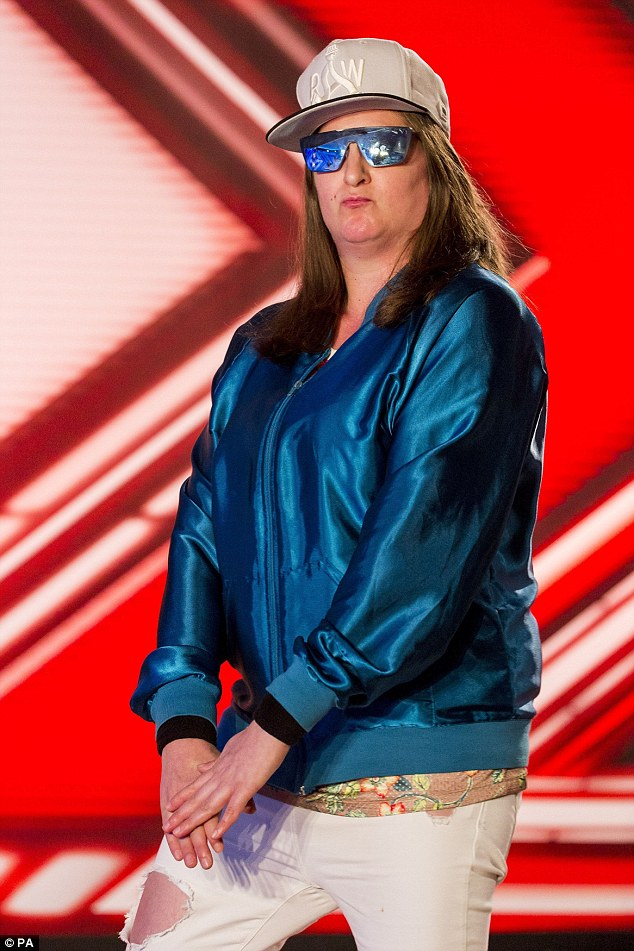Picking it up: The Harrow born rapper, real name is Anna Georgette Gilford, is the first former contestant to perform a solo track at the final of the series which they took part in