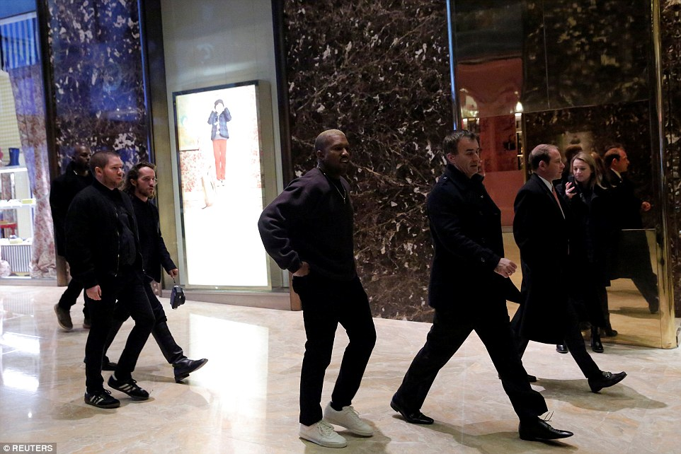 Walk of fame: The lobby of Trump Tower has become the place to see who is who in the new Trump administration