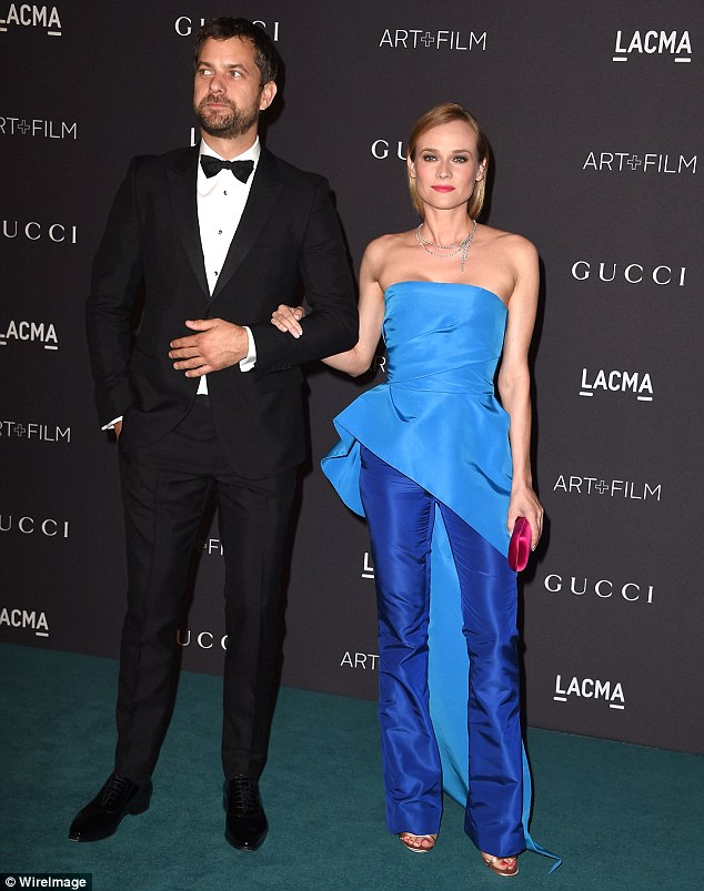 Former flames: Joshua started dating Diane Kruger, 40, in 2006 and split in July after they were together for more than a decade; pictured in November 2015