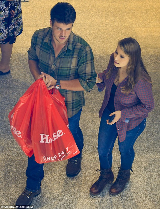 Something to tell us? Bindi Irwin and boyfriend Chandler Powell have been spotted shopping for a double bed and homeware items in Brisbane, Queensland