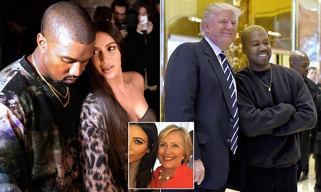 Kanye West meets with Donald Trump despite the Kardashians endorsing Hillary Clinton