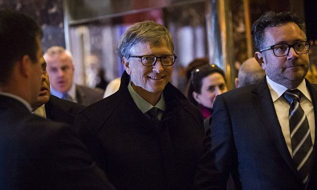 Trump is the new JFK says Bill Gates: Microsoft boss says new president will unite country