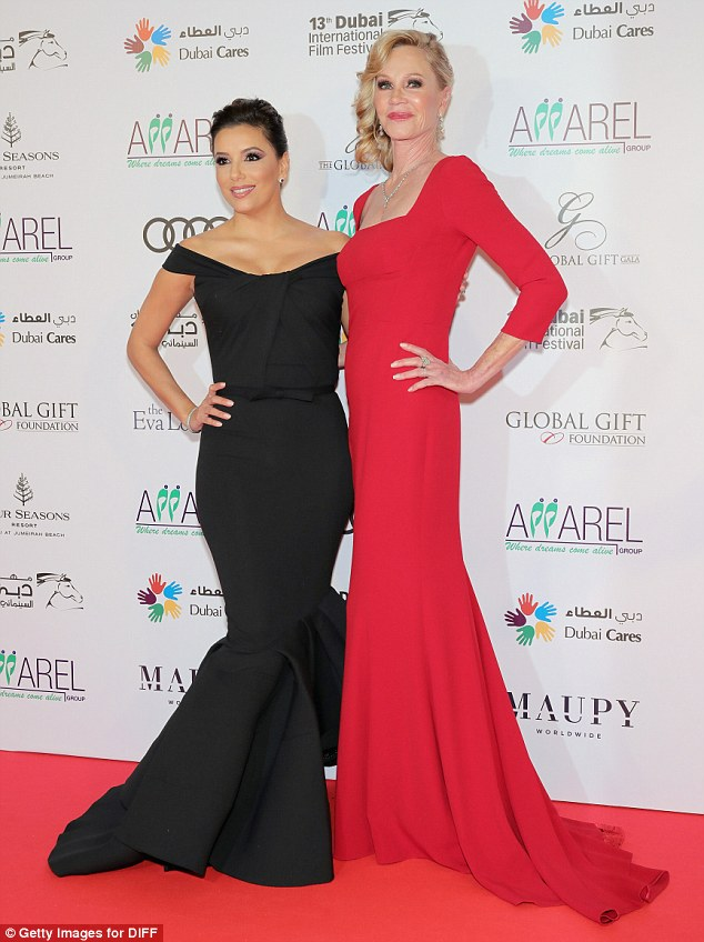 Showstoppers! Eva and Melanie were dressed to the nines as they attended the Global Gift Gala on Monday evening