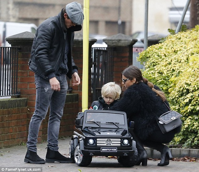 Stepping into his dad shoes? It seems that Jake Hall and Misse Beqiri's are playing happy families already, as the pair doted on her son Julian at their house in Essex, on Monday