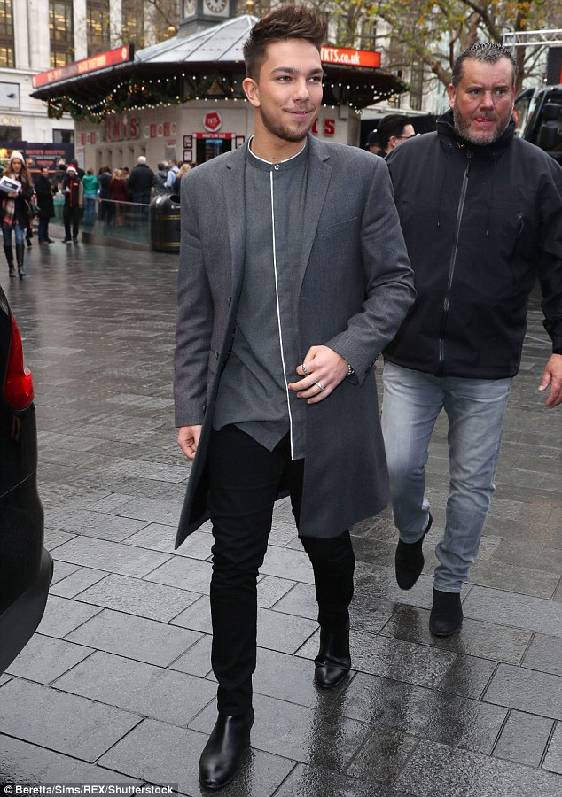 Stepping out: Matt was out and about in London on Tuesday morning as he continues to promote his debut track