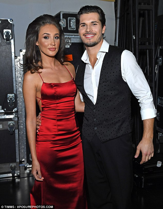 Dynamic duo: Megan posed with professional dancer Gleb Savchenko backstage at her first sold out performance