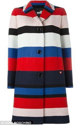 Cool outerwear: Love Moschino coat, $253.52, farfetch.com