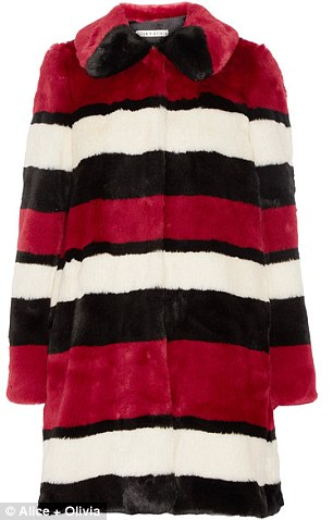 Cool outerwear: Alice + Olivia coat, $750, net-a-porter.com