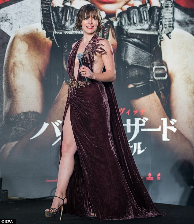 Resident stunner: Milla Jovovich pulling out all the stops as she stole the show at the Resident Evil: The Final Chapter world premiere in Tokyo, Japan on Tuesday