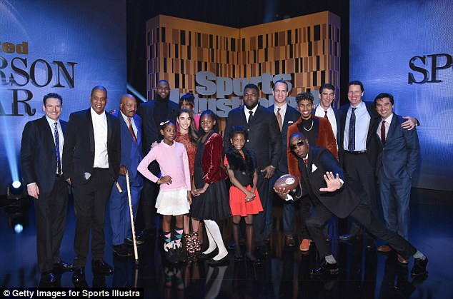 Squad: Jay Z rubbed shoulders with the sporting greats at the ceremony