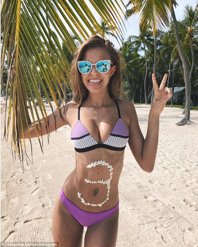 'Love you #subskrivers': Josephine Skriver took to her Instagram early Tuesday morning to post a celebratory bikini snap as she hit 3 million followers