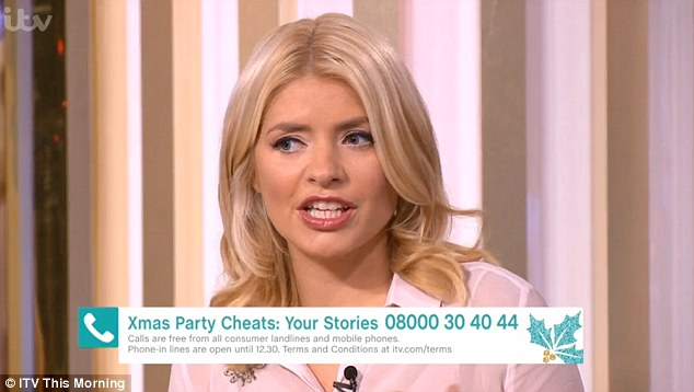 'You're not allowed to snog': Fuming Holly Willoughby slammed people who cheat at Christmas parties