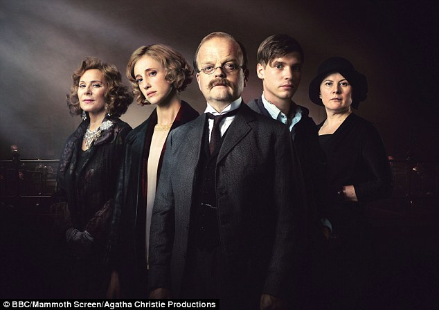 Kim Cattrall is joined by, from left, Andrea Risborough, Toby Jones, Billy Howle and Monica Dolan in the adaptation, which its director has said is a 'million miles away from Miss Marple'