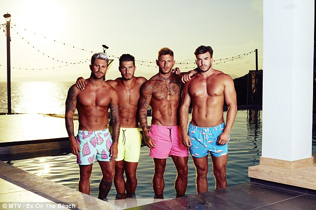 Boys: (L-R) Ross, Josh Ritchie, Sean Pratt and Alex Leslie have clearly been working out