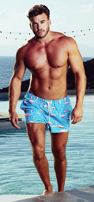Fitness guru: Alex knows all about sun, sea and sex from living it up in Marbella, and having his pick of the bikini clad babes