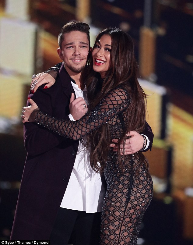 Victorious: Louis' remarks about Nicole's work ethic may ring true as her act, Bromley-born waiter Matt Terry was announced as the show's winner on Sunday