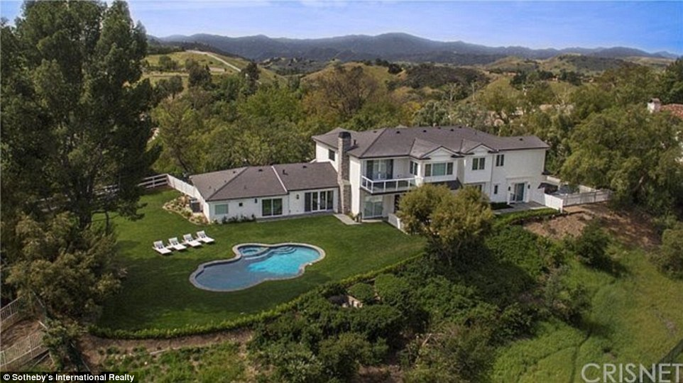 Impressive property: But the Keeping Up With The Kardashian star is struggling to find a buyer - and has reduced the estate by a cool million
