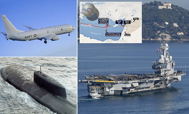 US Navy searching for Russian submarines feared to have been sent after NATO warships