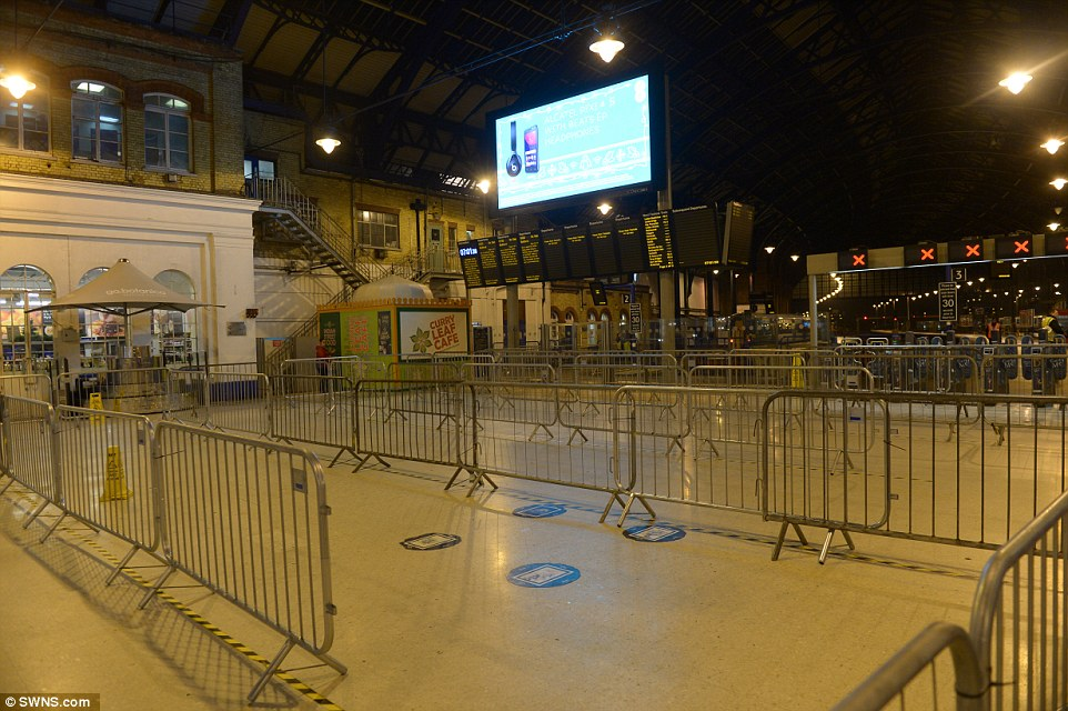 A usually crowded Brighton station was empty this morning as thousands of rail passengers were warned that no Southern Railway services would run as drivers kick off three days of strike action as part of a dispute over driver-only trains