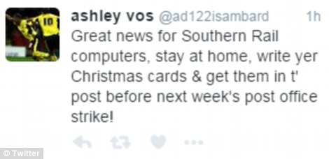 Some Twitter users joked they could use the time to write Christmas cards