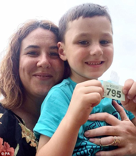 Jenny Lehane, 37, with her six-year-old son, Matthew