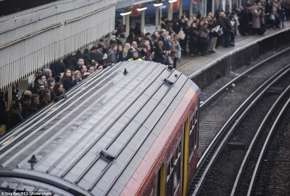 A contraflow system was in place at Clapham Junction, where commuters were desperate to find other routes to work