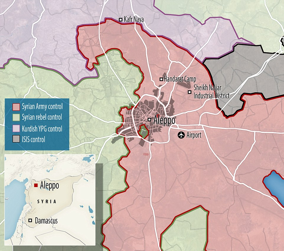 Syrian troops were poised to recapture all of the country's war-torn second city. Rights group Amnesty International has described global inaction over the siege as 'shameful'