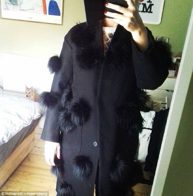 Women have been sharing pictures using the hashtag #ClothesMyHusbandHates.Maeve Barry recently shared this picture of her new coat adorned with giant furry pompoms