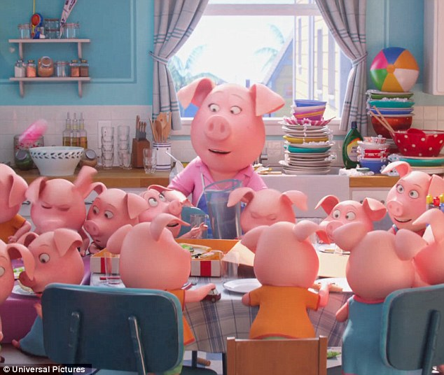 Universal Studios' animated musical: The Inherent Vice stunner will next voice a shy pig mother-of-25 called Rosita in Sing, which hits US theaters December 21 and UK theaters January 27