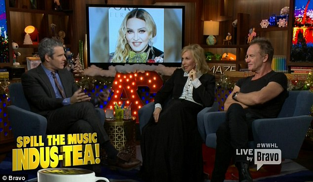 Dishing details: Andy asked Sting and Trudie about their famous friends, including Madonna