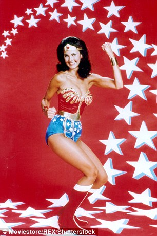Lynda Carter in the 1970s TV show Wonder Woman