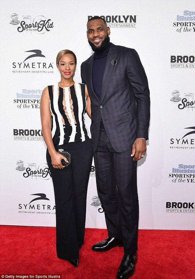 Man of the hour:Basketball legend LeBron James and his wife Savannah Brinson also attended the gala where he was presented withSportsperson Of The Year