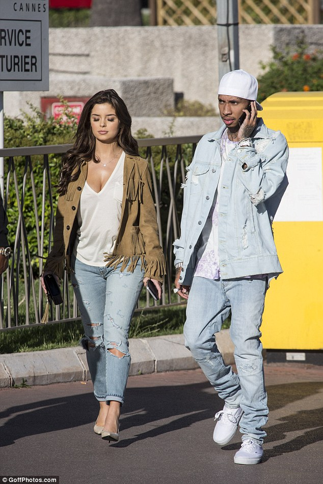 Former flame? The head turning starlet shot to fame this summer after being pictured with Tyga- who is now back with Kylie Jenner- during a trip to the Cannes Film Festival