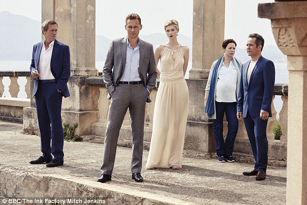 Early leader: The Night Manager which made an early impact as the first segment of awards were read out - it is up for the coveted Best TV movie or limited series as well as three acting prizes for Tom Hiddleston, Hugh Laurie and Olivia Coleman