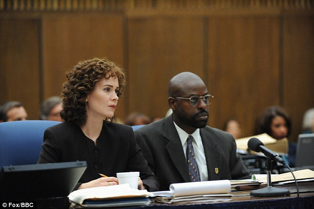 Coutside drama: TV mega-hit The People Vs. O.J. Simpson: American Crime Story which looks set to sweep the board - with more acting nominations for Sarah Paulson and Sterling K. Brown (both pictured above)