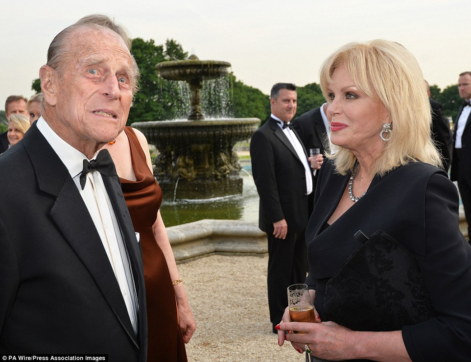 'Could have been Bond': The prince and Joanna Lumley (pictured), who said: 'I think he is an extraordinary character. He rides, sails, drives horses, fishes and swims and does stuff. He really could have been James Bond, actually'