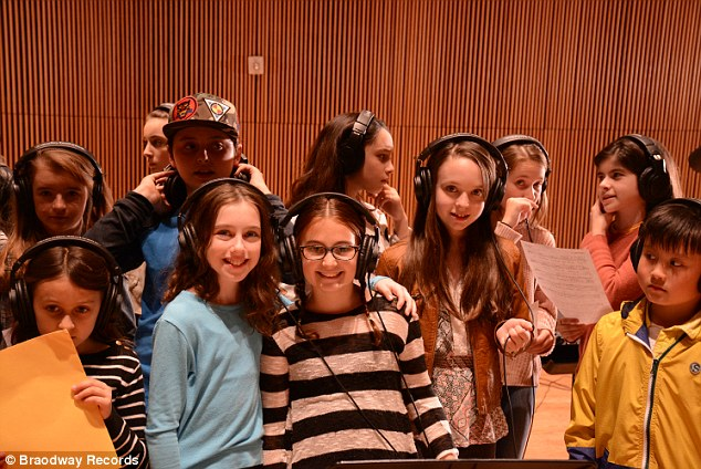 Tuneful room: The song, entitled I Have a Voice, features young singers from School of Rock, The Lion King, Kinky Boots, On Your Feet, Matilda the Musical and more