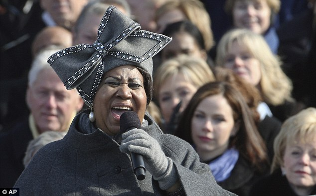 Soul legend Aretha Franklin performed at Barack Obama's inauguration in 2009