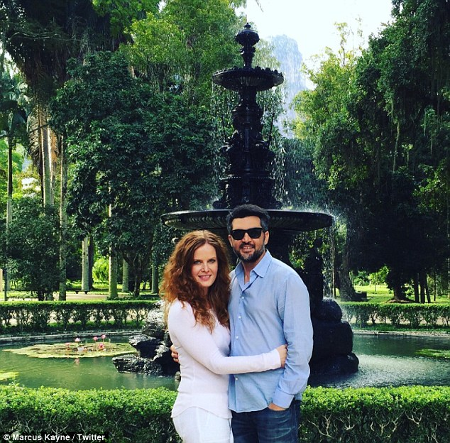 Summer vacation:The couple announced their engagement on social media on Christmas Day in 2014; they have been dating since late 2013