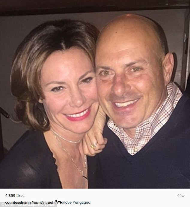 'Yes, it's true!': The Real Housewife Of New York had confirmed their engagement on Instagram this February, and will blow through three wedding dresses when they throw the ceremony in Palm Beach on New Year's Eve