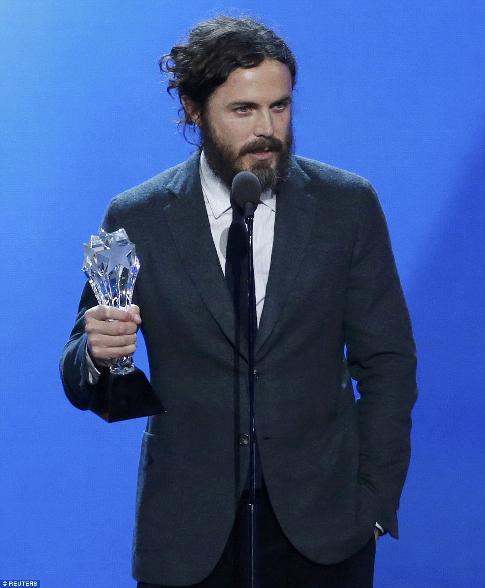 Rewarded:Casey won for his portrayal of loner Lee Chandler in drama Manchester By The Sea